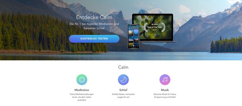 Calm Meditations-App
