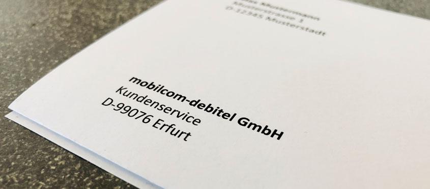 mobilcom-debitel - Vorlage zur Kündigung