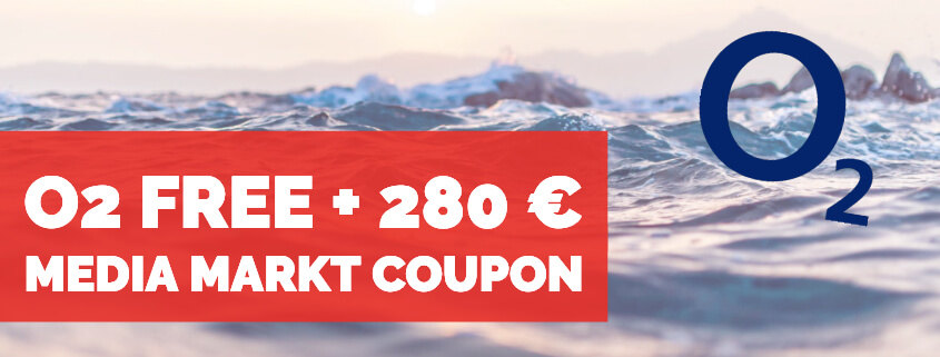 o2 Free inkl. 280 € Media Markt Coupon
