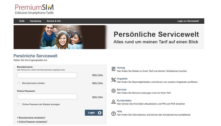 PremiumSIM kündigen Servicewelt