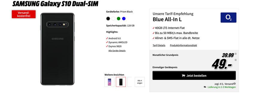 Samsung Galaxy S10 inkl. 40 GB Flat