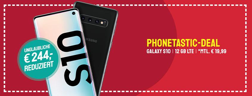 Samsung Galaxy S10 + 12 GB Allnet Flat für 19,99 € mtl.