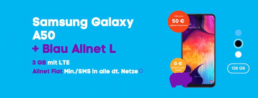 Samsung Galaxy A50 inkl. Blau Allnet L
