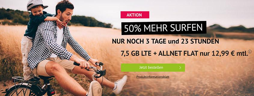 handyvertrag.de - Allnet Flat mit 7,5 GB für 12,99 €
