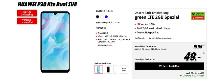 Huawei P30 Lite inkl. green LTE 2 GB