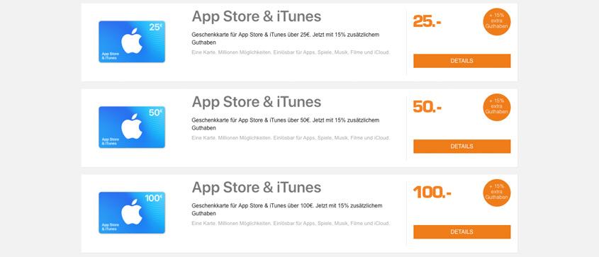 iTunes Guthaben günstiger bei SATURN