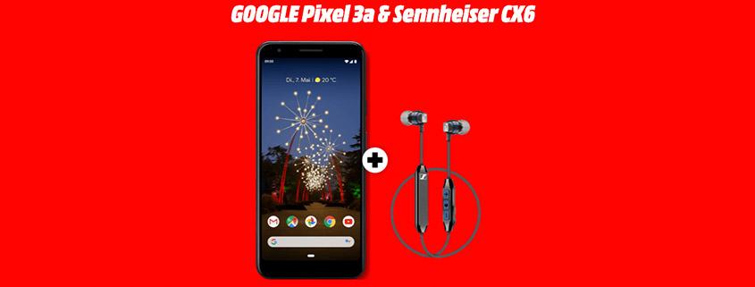 Google Pixel 3a + Vodafone green LTE 1 GB für 11,99€/mtl.