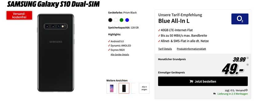 Samsung Smartphone mit Vertrag