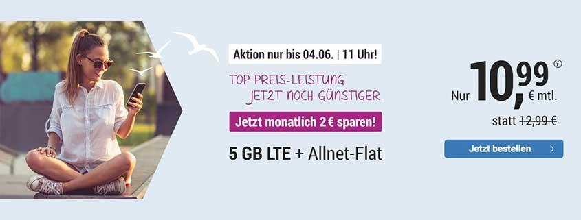 simply LTE 5.000 bis 4. Juni für 10,99 €/mtl.