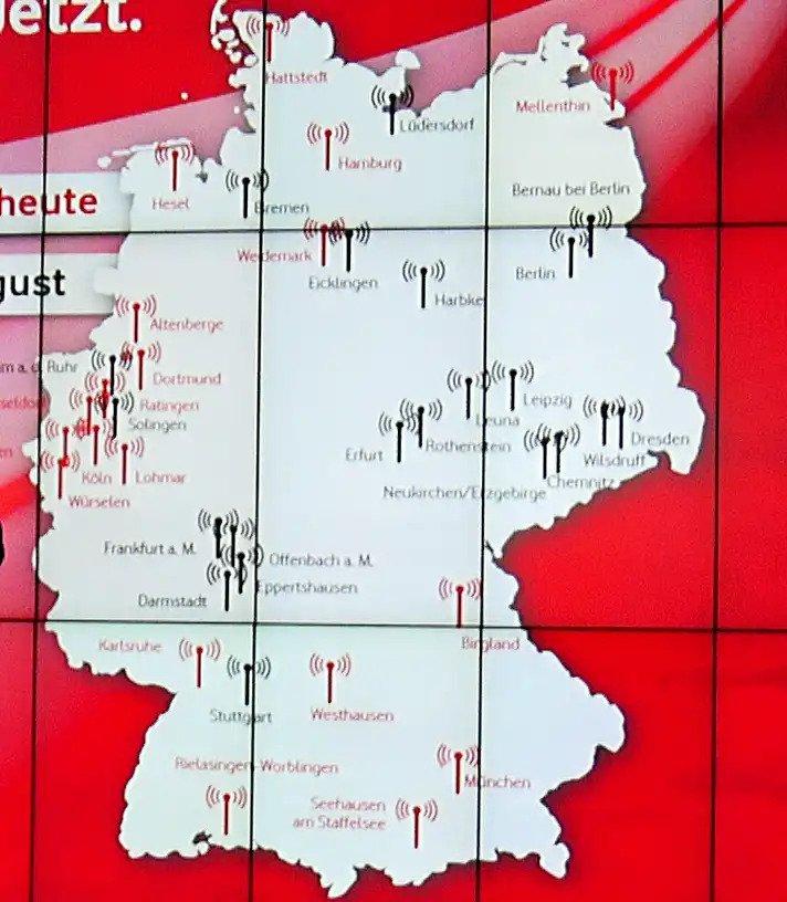 5G Stationen von Vodafone in Deutschland