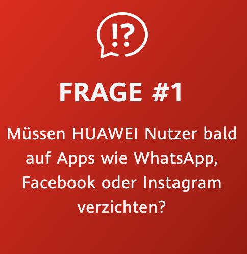 Huawei Zukunftsversprechen Frage 1