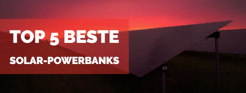 Top 5 beste Solar Powerbanks Beitragsbild