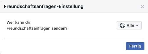 Facebook Freundschaftsanfragen von jedem