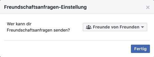 Facebook Freundschaftsanfragen von Freunden von Freunden