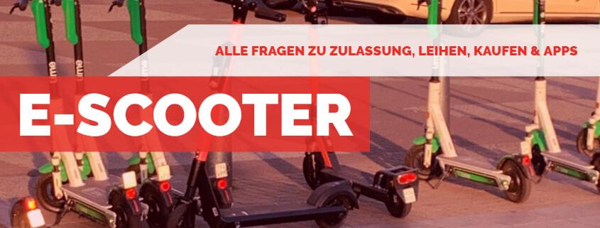 E-Scooter - Alles zum Thema - Beitragsbild