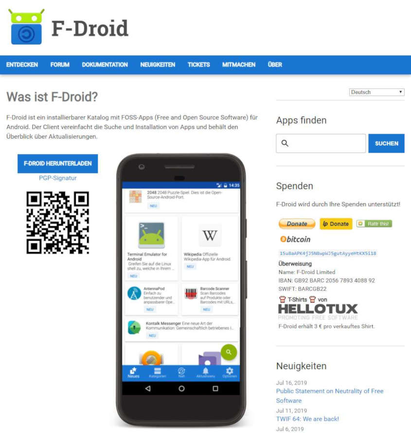 F-Droid Play Store Alternative