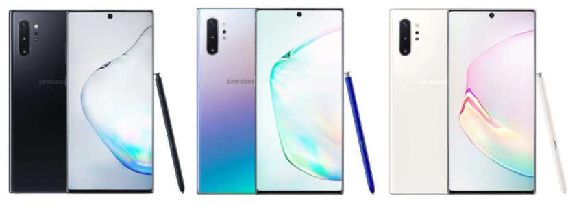 Samsung Galaxy Note 10 Farben