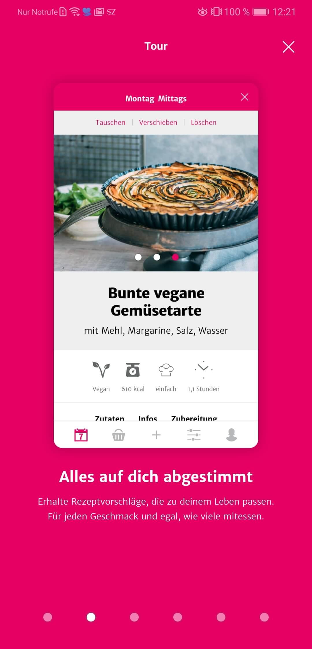 SevenCooks App Übersicht Rezept