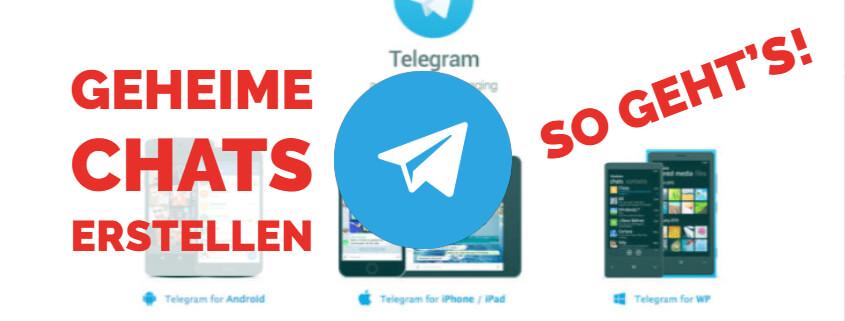 Telegram - Geheime Chats Beitragsbild