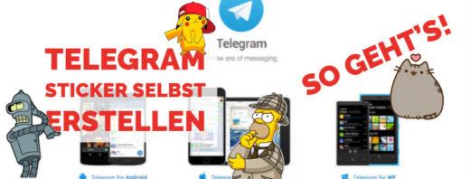 Telegram - Sticker erstellen Beitragsbild