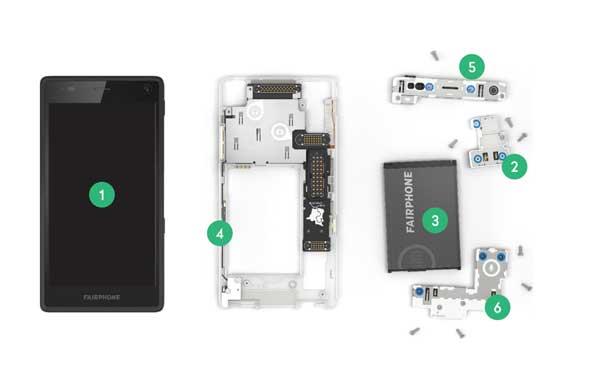Ersatzteile für das Fairphone 3