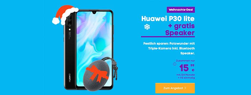 Huawei P30 Lite inkl. Speaker für nur 15,99 €