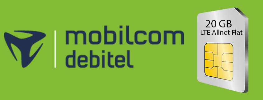 20 GB LTE Allnet Flat für nur 19,99 €/mtl.