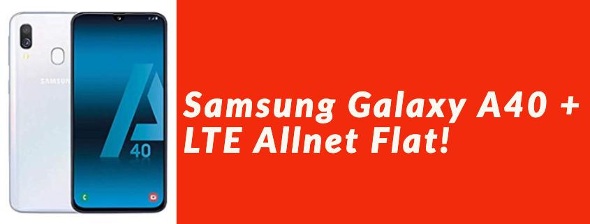 Samsung Galaxy A40 inkl. LTE Allnet Flat für 14,99 €
