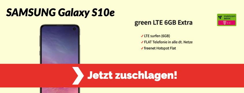 Samsung Galaxy S10e ink. 6 GB Telekom Flat für 16,99 €