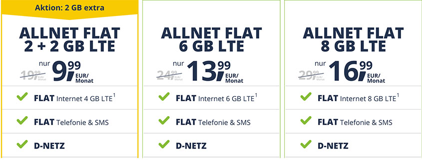 freenetmobile Allnet Flats