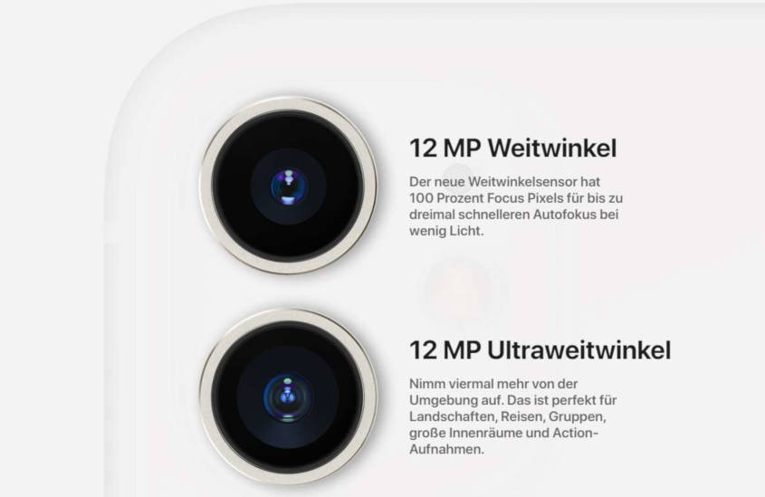 iPhone 11 mit Vertrag Kamera