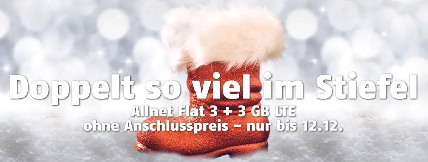 klarmobil Nikolaus - 6 GB LTE Allnet Flat für 12 €
