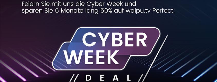 waipu.tv Cyber Week - 50 % sparen