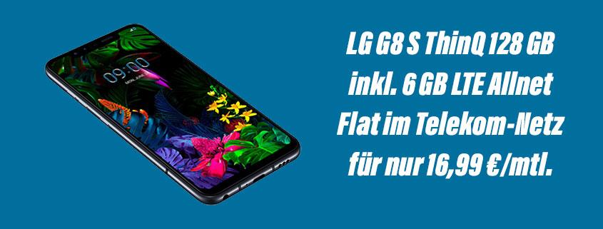 LG G8S ThinQ inkl. 6 GB Telekom Flat für 16,99 €/mtl.