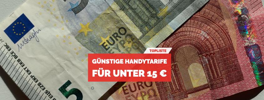 Handytarife unter 15 €
