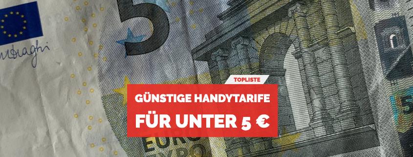 Handytarife für unter 5 Euro