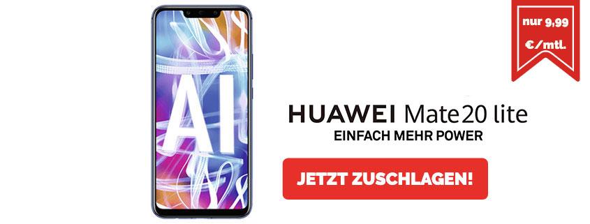 Huawei Mate 20 lite mit 3 GB Flat