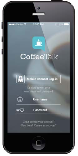 Mobile Connect Login Screen