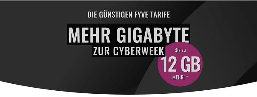 FYVE Cyberweek Deals - Bis zu 12 GB extra