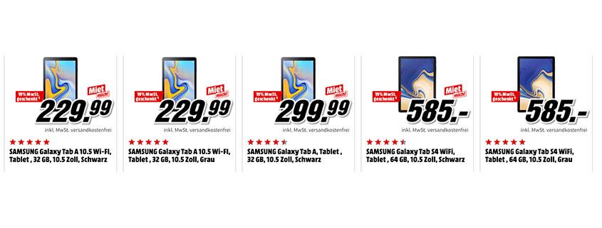 Samsung Galaxy Week Tablets