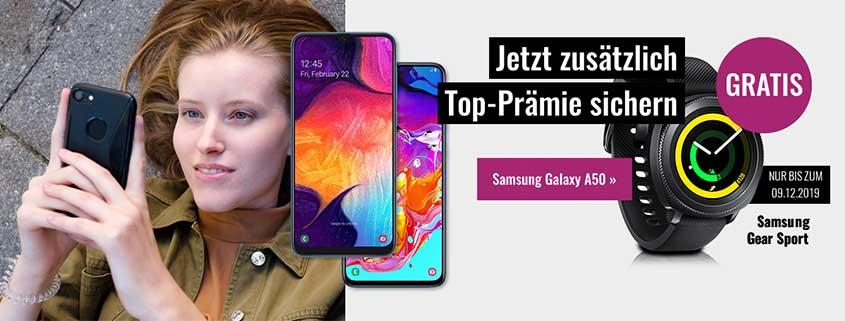 FYVE Samsung Galaxy A70 inkl. 5 GB Flat für 20,99 €