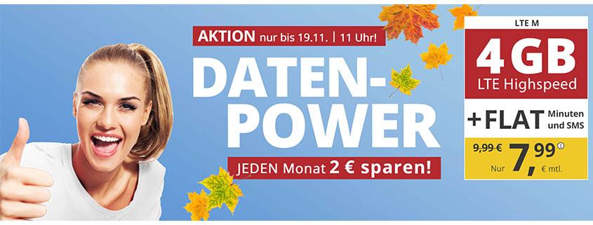 PremiumSIM LTE M für 7,99 €/mtl.