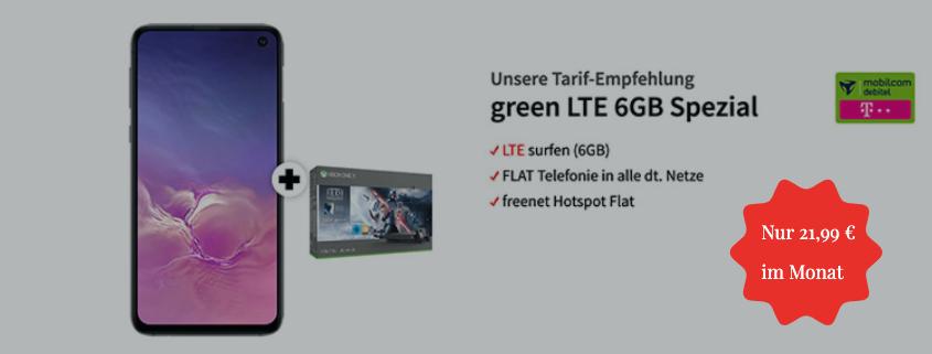 Samsung Galaxy S10e + Xbox One X für 21,99 €/mtl.