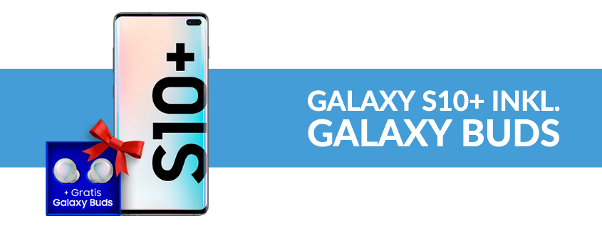 Samsung S10+ inkl. Galaxy Buds + Telekom LTE Flat für 26,99 €/mtl.
