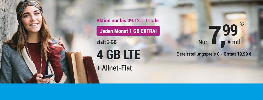 simply LTE 3.000 + 1 GB für 7,99 €/mtl.