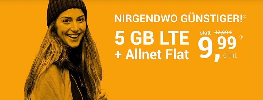 winSIM 5 GB für nur 9,99 €/mtl.