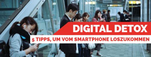 Digital Detox Titelbild Menchen am Smartphone in der U-Bahn