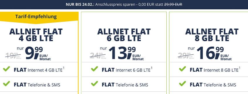 freenetmobile ohne Anschlusspreis! Spare bis zu 29,99 €