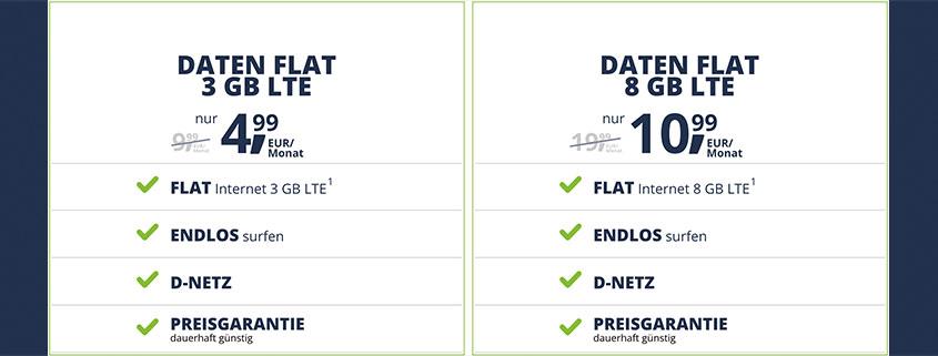Die neuen freenetmobile Datentarife schon ab 4,99 €/mtl.