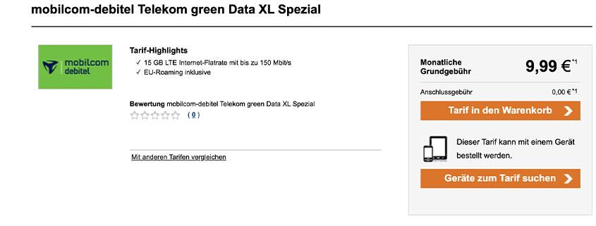 Logitel Daten Flat mit 15 GB nur 9,99 €/mtl.